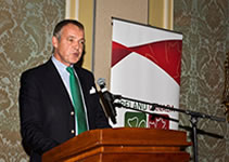 Guest Speaker, ICBA Maple Leaf Dinner, 2013, Christoph Mueller, CEO, Aer Lingus