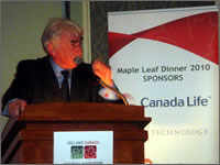 John O' Shea, Goal, speaking at Maple Leaf Dinner 2010