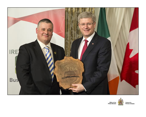 Stephen Harper bestowed Honorary Lifetime Membership of ICBA