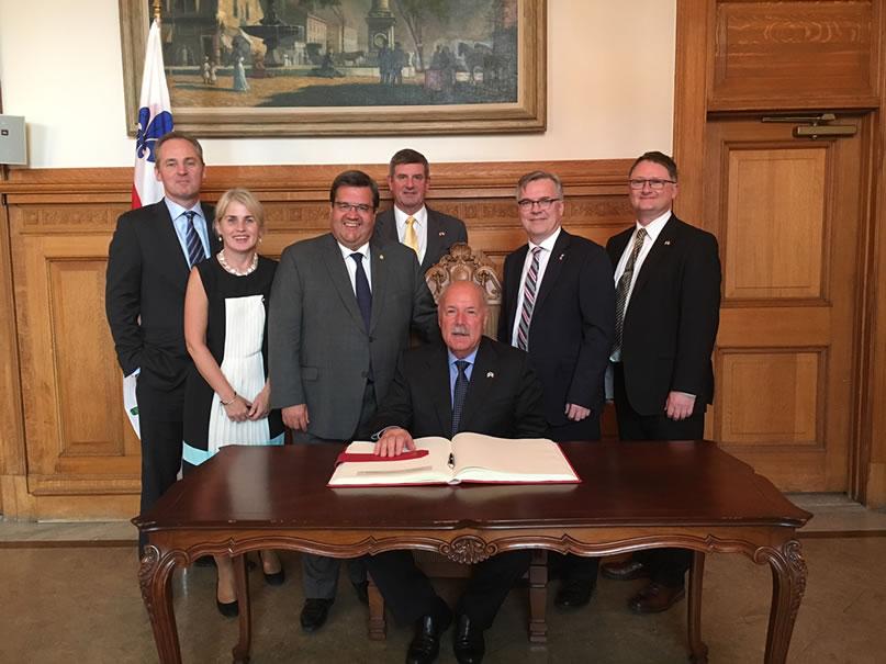 ICBA meet Mayor Denis Coderre Montreal