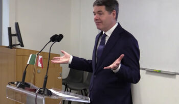Minister Paschal Donohoe on being in the room with Ireland and Canada at the IMF