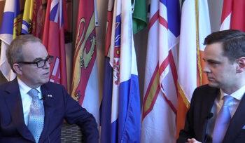 Ambassador Jim Kelly speaks to the ICBA