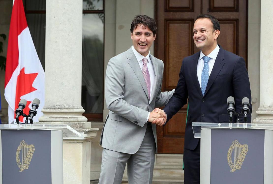 Leo Varadkar & Justin Trudeau