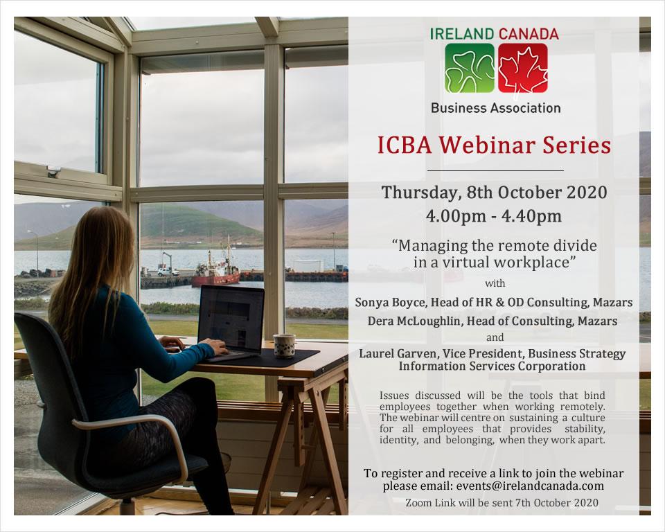 ICBA Webinar Managing the remote divide in the workplace Mazarso
