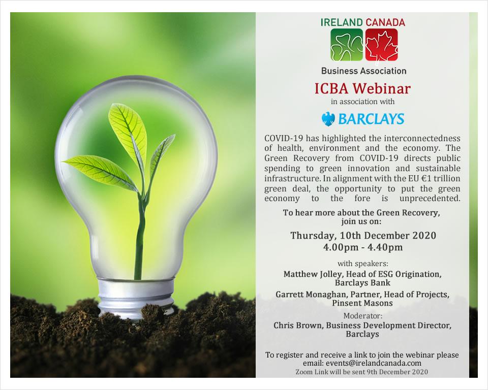 ICBA Webinar Green Recovery