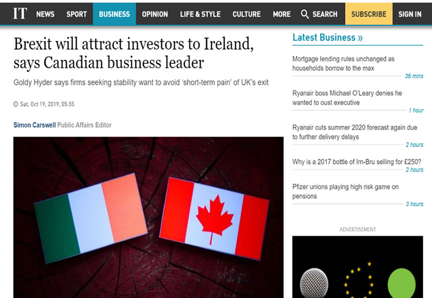 Brexit will attract business to Ireland
